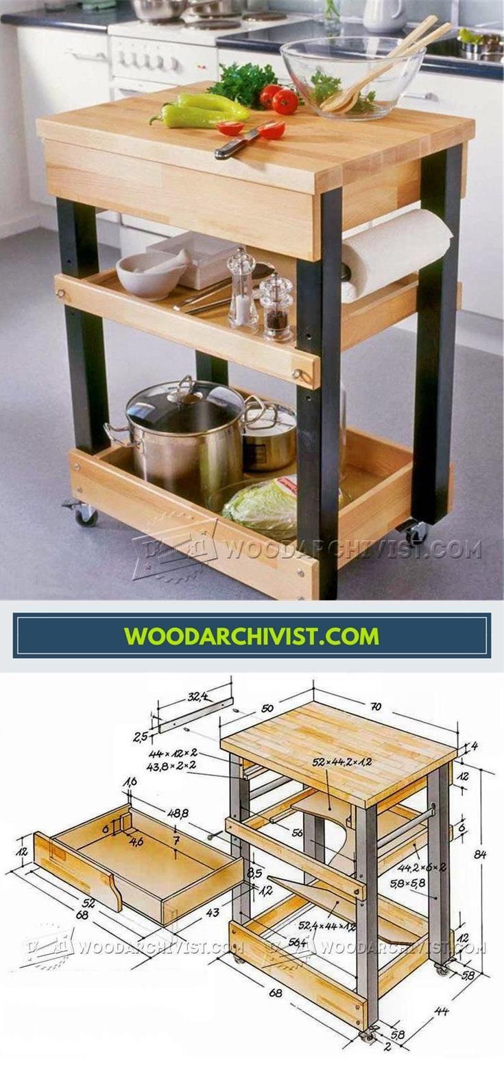 Best ideas about DIY Kitchen Cart Plans . Save or Pin Kitchen Cart Plans Furniture Plans and Projects Now.