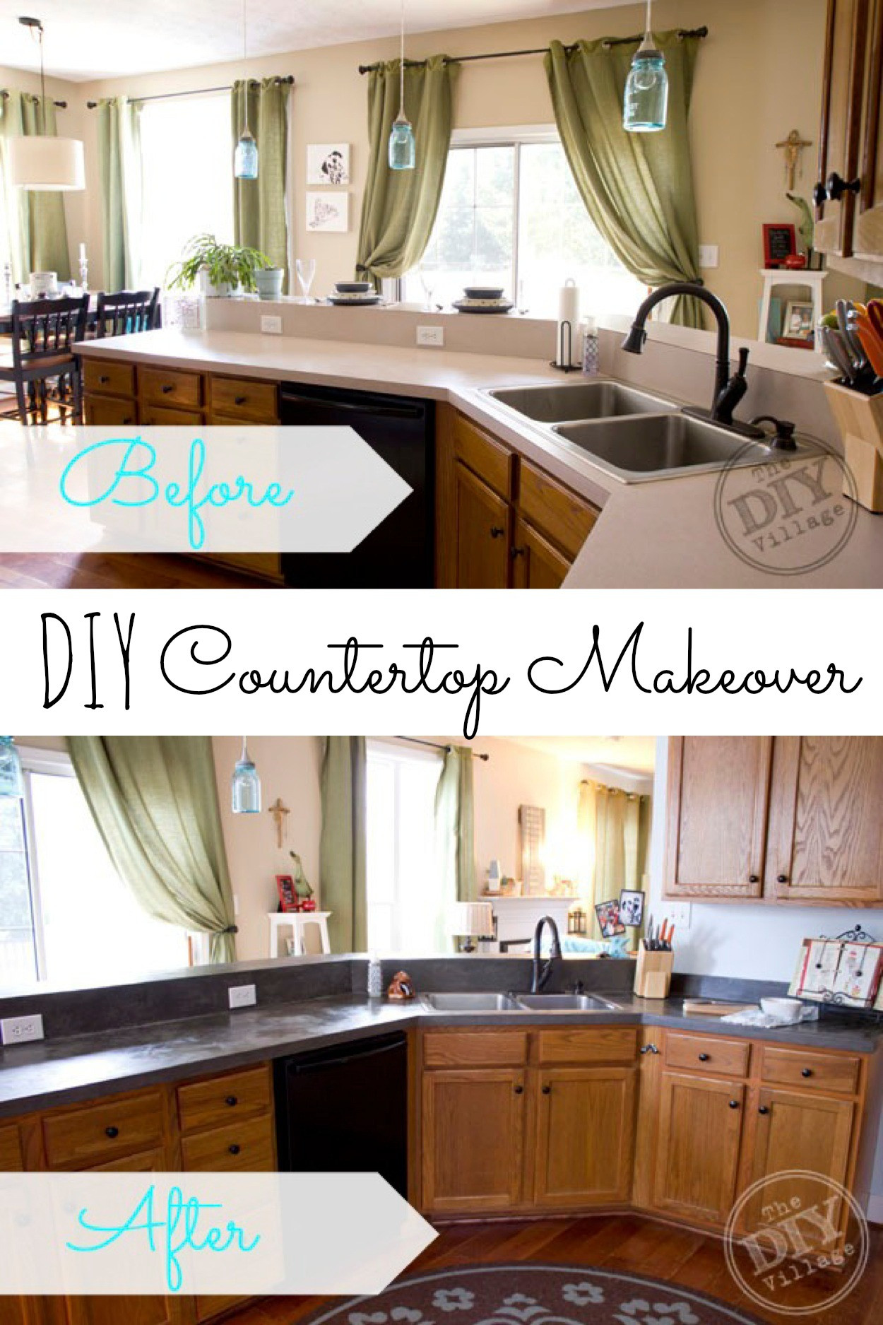 Best ideas about DIY Kitchen Counters . Save or Pin 9 DIY Countertop Makeovers Now.