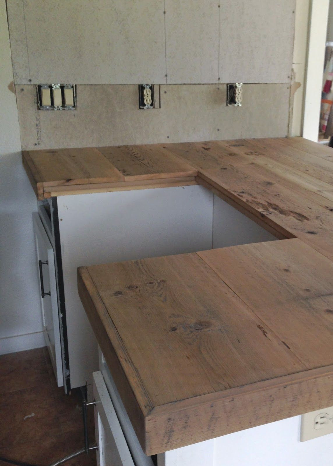 Best ideas about DIY Kitchen Counters . Save or Pin DIY Reclaimed Wood Countertop in 2019 Remodel Now.