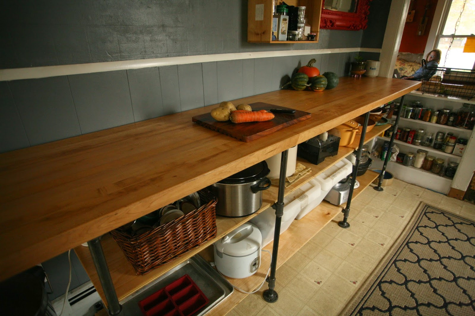 Best ideas about DIY Kitchen Counters . Save or Pin Whittled Down Life DIY Black Pipe Kitchen Counter Now.