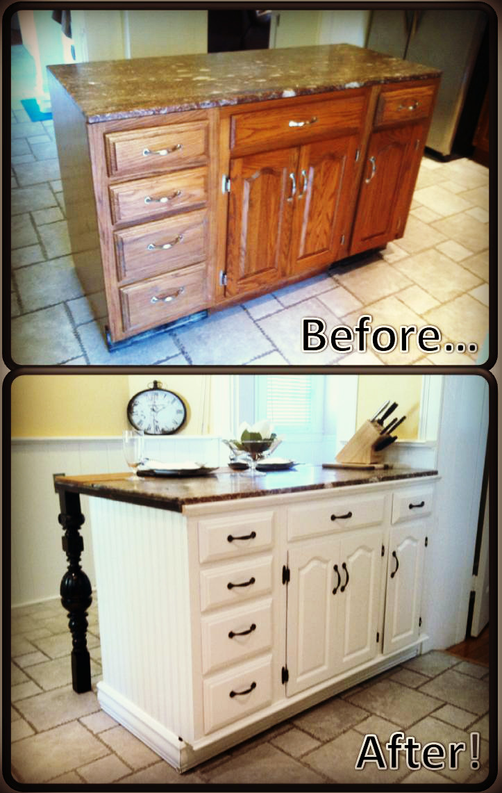 Best ideas about DIY Kitchen Island From Cabinets . Save or Pin DIY Kitchen Island Renovation Now.
