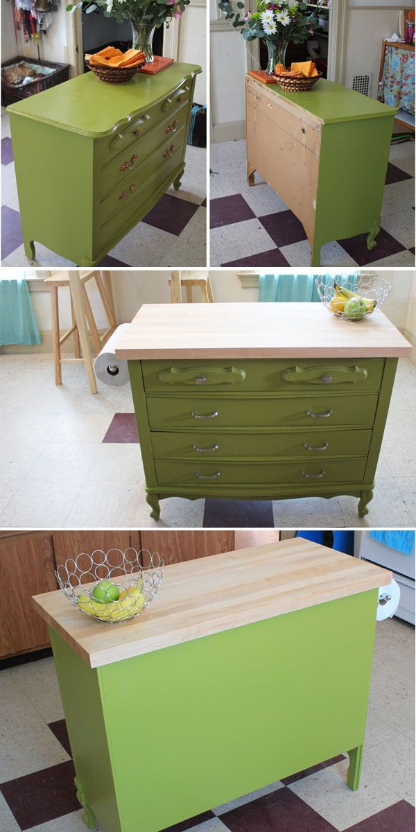 Best ideas about DIY Kitchen Island From Dresser . Save or Pin Best 25 Dresser kitchen island ideas on Pinterest Now.