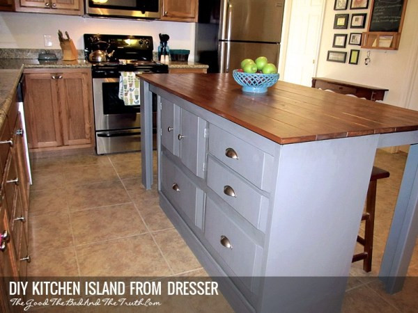 Best ideas about DIY Kitchen Island From Dresser . Save or Pin DIY Kitchen Island From A Dresser Now.