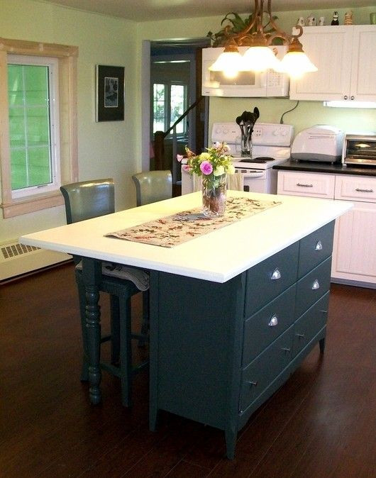 Best ideas about DIY Kitchen Island From Dresser . Save or Pin Diy Kitchen Island Bench WoodWorking Projects & Plans Now.