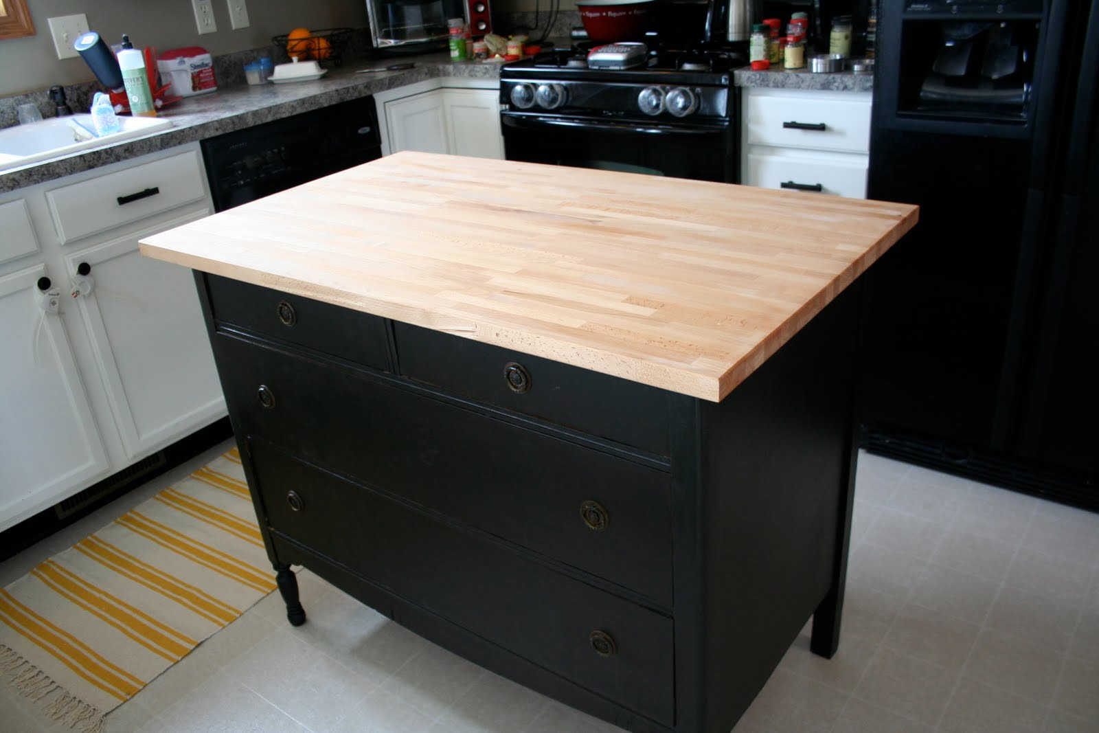 Best ideas about DIY Kitchen Island From Dresser . Save or Pin Homemakin and Decoratin Dresser as kitchen island Now.