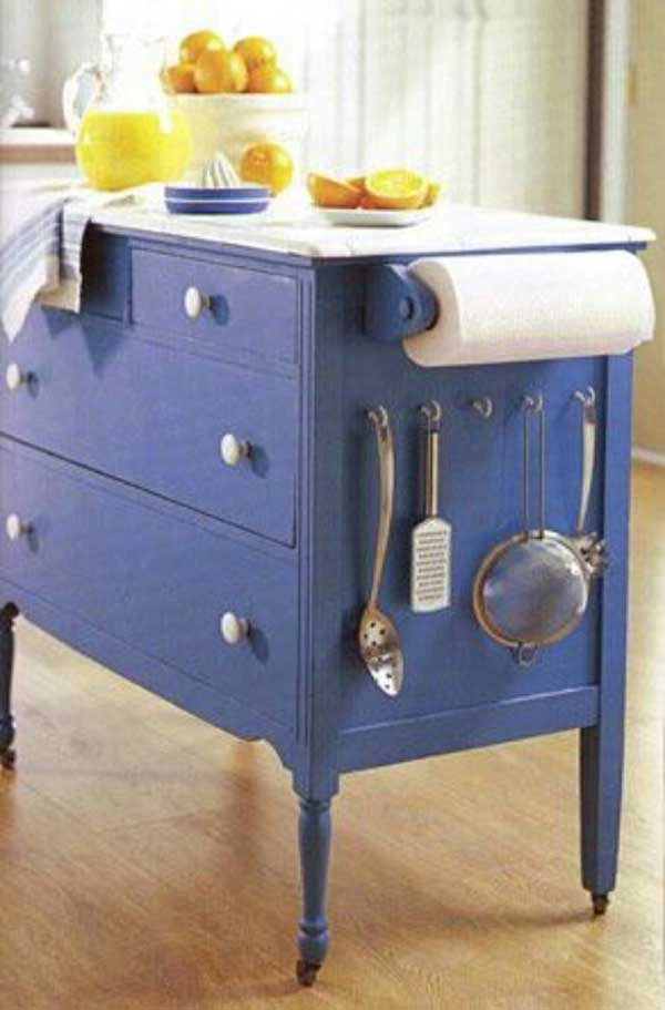 Best ideas about DIY Kitchen Island From Dresser . Save or Pin 32 Simple Rustic Homemade Kitchen Islands Now.