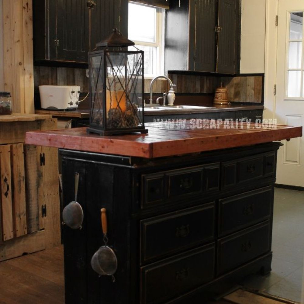 Best ideas about DIY Kitchen Island From Dresser . Save or Pin Reclaimed Dresser into Kitchen Island With Pallet Now.