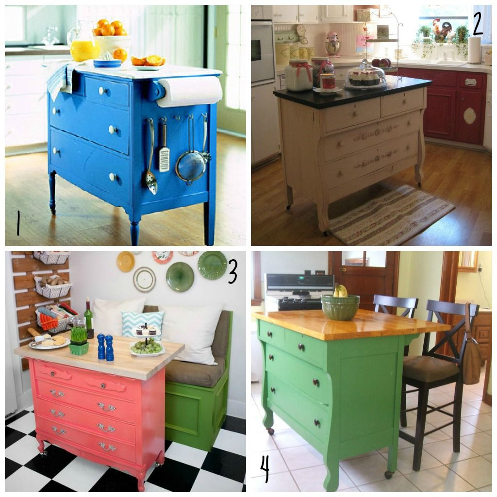 Best ideas about DIY Kitchen Island From Dresser . Save or Pin Using Dresser For Kitchen Island BestDressers 2017 Now.