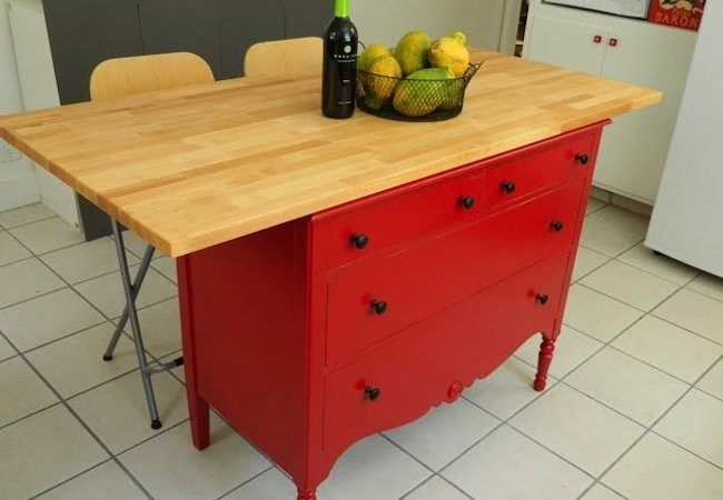 Best ideas about DIY Kitchen Island From Dresser . Save or Pin DIY Kitchen Island 5 You Can Make Bob Vila Now.