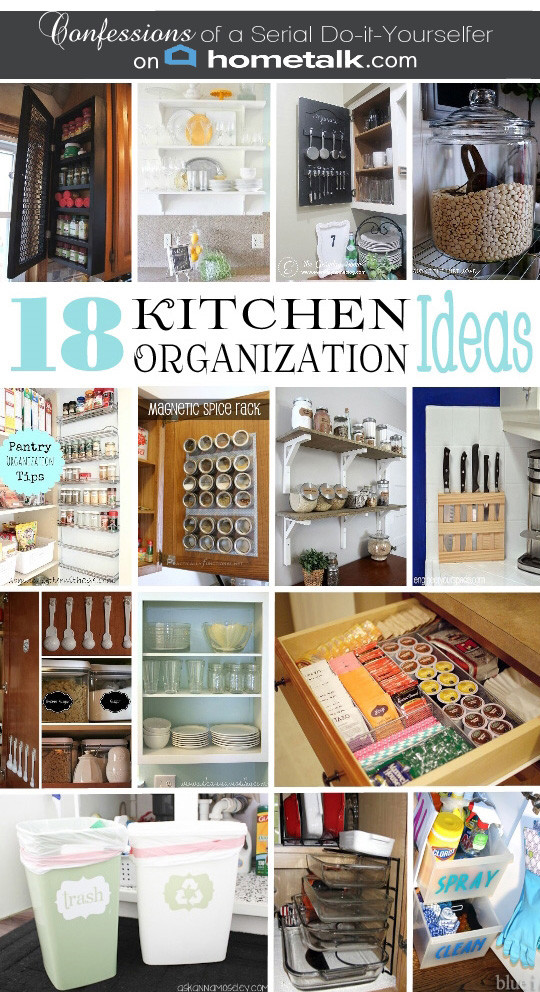 Best ideas about DIY Kitchen Organizing Ideas . Save or Pin DIY Spice Cabinet and 17 More Kitchen Organization Ideas Now.