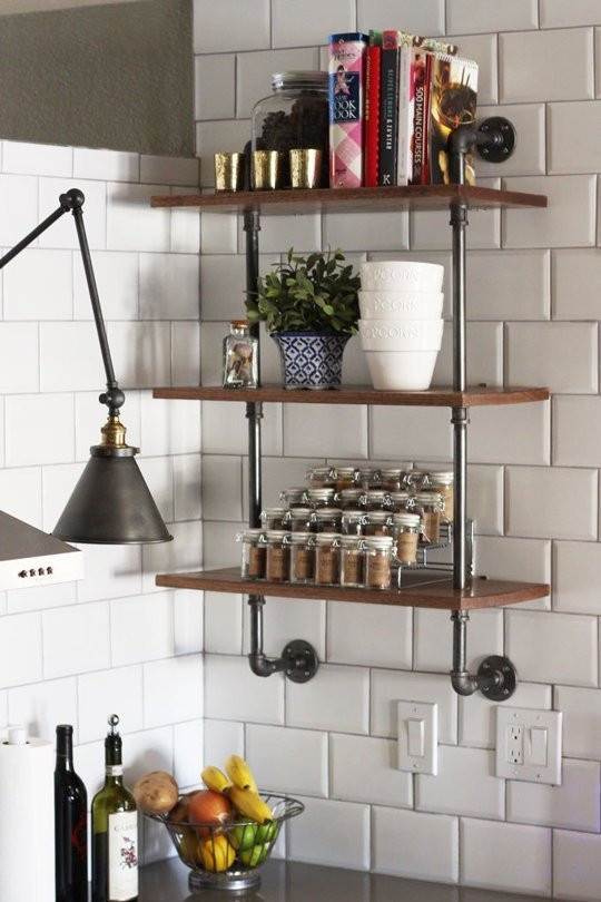 Best ideas about DIY Kitchen Shelves . Save or Pin 65 Ideas Using Open Kitchen Wall Shelves Shelterness Now.