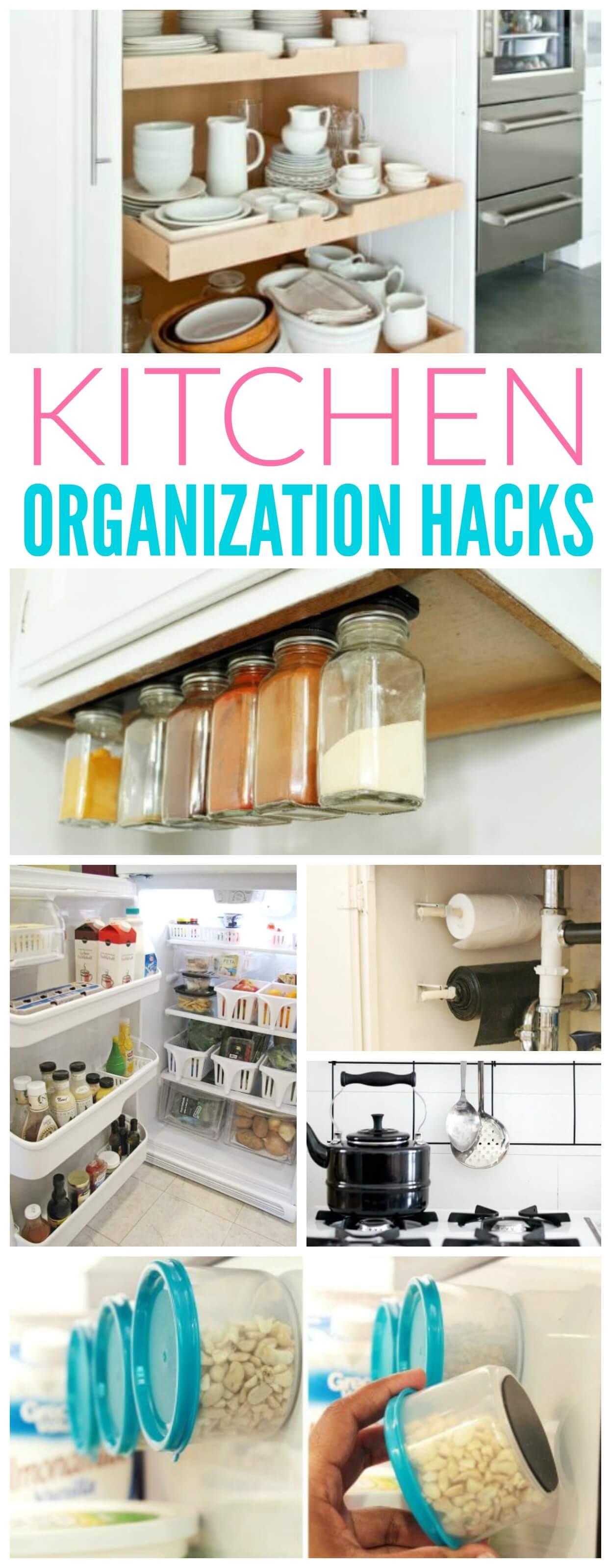 Best ideas about DIY Kitchen Storage Hacks . Save or Pin Kitchen Organization Hacks Now.