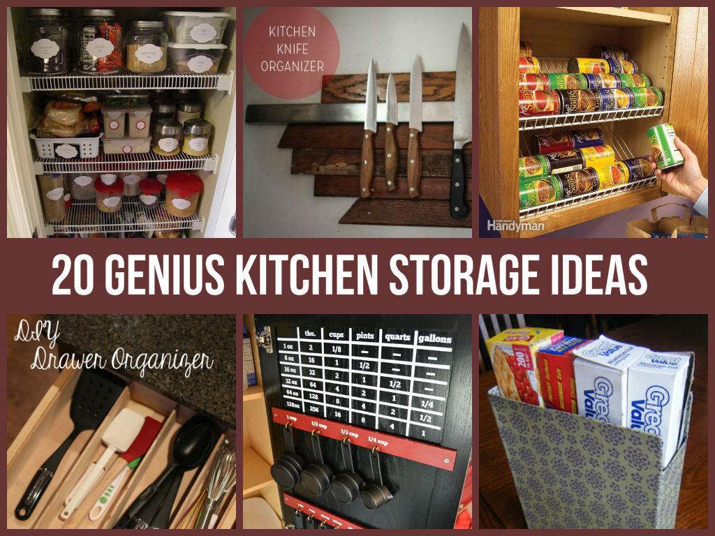 Best ideas about DIY Kitchen Storage Hacks . Save or Pin 20 Genius Kitchen Storage Ideas Now.