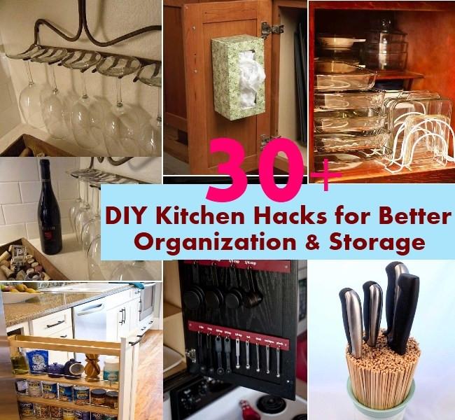 Best ideas about DIY Kitchen Storage Hacks . Save or Pin 30 DIY Kitchen Hacks for Better Organization & Storage Now.