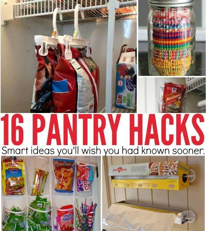 Best ideas about DIY Kitchen Storage Hacks . Save or Pin 16 PANTRY HACKS Maria s Mixing Bowl Now.