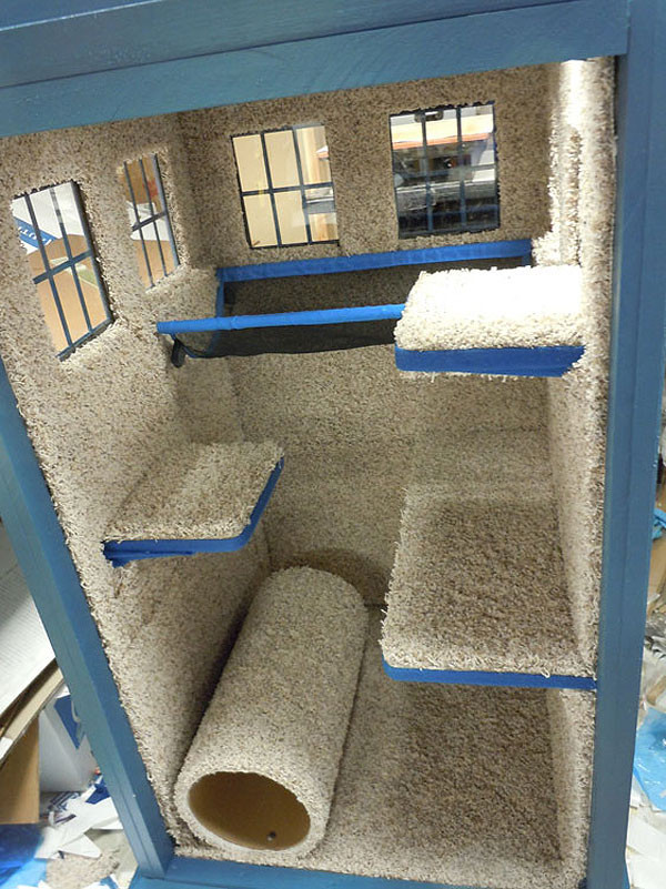 Best ideas about DIY Kitty Condo . Save or Pin DIY Kitty TARDIS Playhouse For Cats Who Love The Doctor Now.