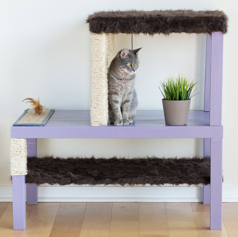 Best ideas about DIY Kitty Condo . Save or Pin DIY Stacked Tables Cat Condo petdiys Now.