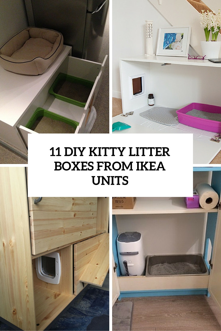 Best ideas about DIY Kitty Litter . Save or Pin 11 Simple DIY Kitty Litter Boxes And Loos From IKEA Units Now.