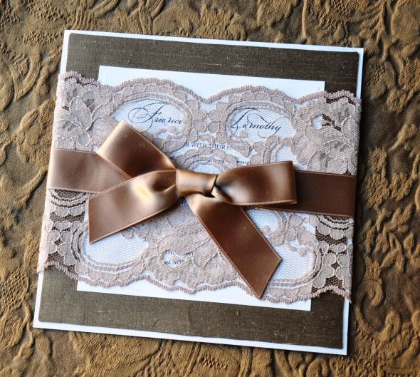 Best ideas about DIY Lace Wedding Invitations . Save or Pin DIY Lace and Silk Designer Wedding Invitation Now.
