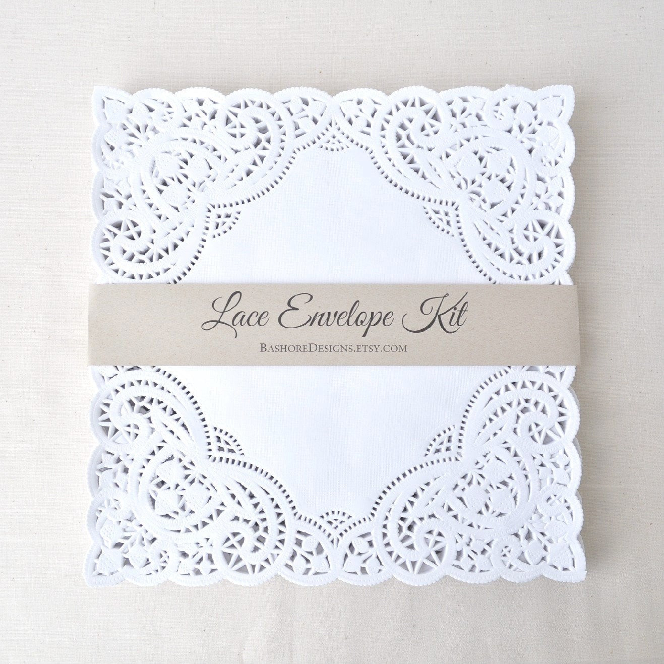 Best ideas about DIY Lace Wedding Invitations . Save or Pin DIY Lace Envelope Kit Wedding Invitation by HarvestPaperCo Now.
