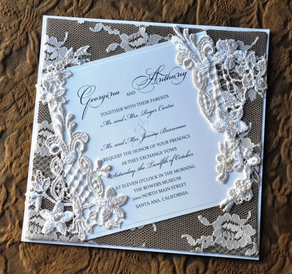 Best ideas about DIY Lace Wedding Invitations . Save or Pin A Most Romantic DIY Wedding Invitation Now.