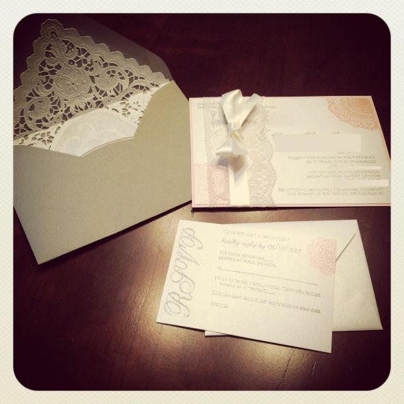Best ideas about DIY Lace Wedding Invitations . Save or Pin DIY Lace Invitations Now.