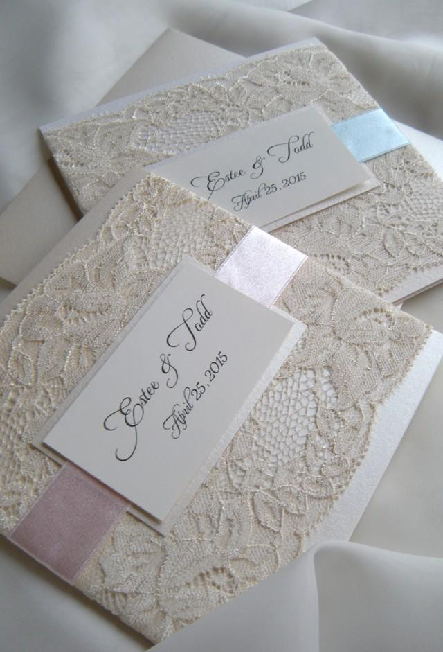 Best ideas about DIY Lace Wedding Invitations . Save or Pin Lace Wedding Invitations Weddbook Now.