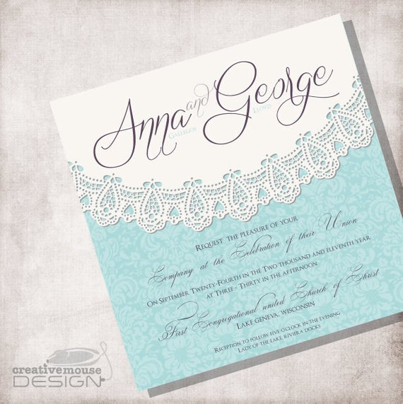 Best ideas about DIY Lace Wedding Invitations . Save or Pin Lace Vintage Wedding Invitation DIY Printable FILE ONLY Now.