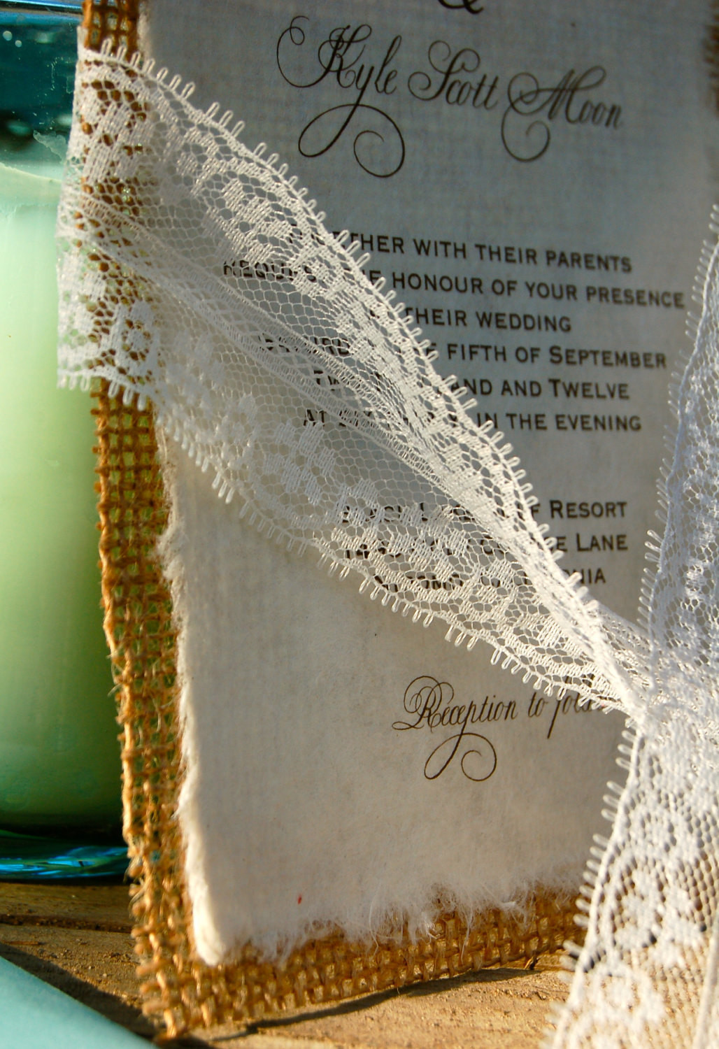 Best ideas about DIY Lace Wedding Invitations . Save or Pin DIY Lace and Real Burlap Wedding Invitation Rustic Barn Now.