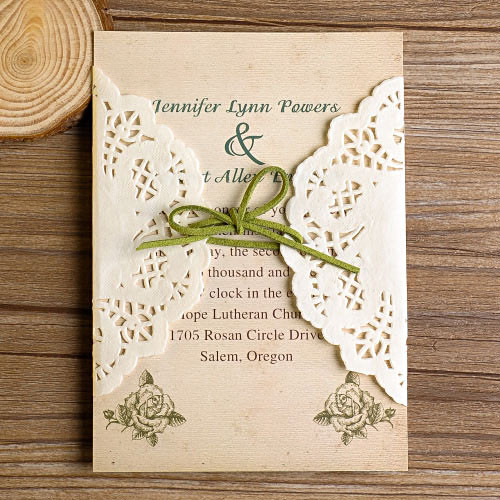 Best ideas about DIY Lace Wedding Invitations . Save or Pin DIY Lace Wedding Invitations Starting From $1 79 At Now.