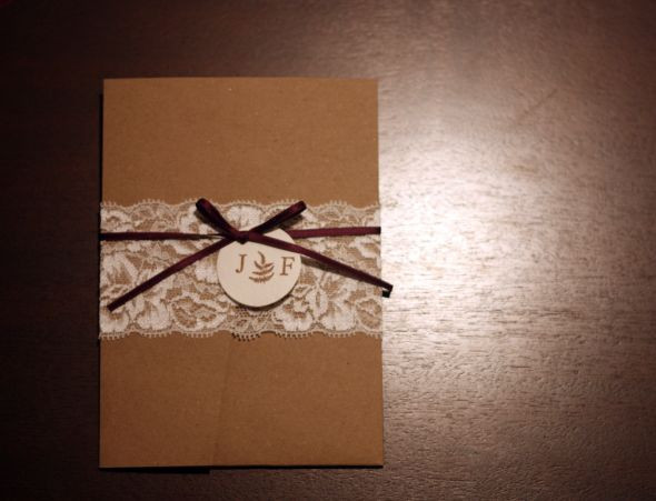 Best ideas about DIY Lace Wedding Invitations . Save or Pin Our DIY Lace Wedding Invitations Now.