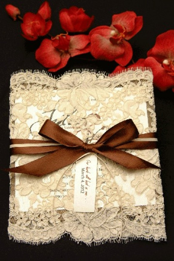 Best ideas about DIY Lace Wedding Invitations . Save or Pin Taylor Made Soirées 2013 Wedding Trend Lace Now.
