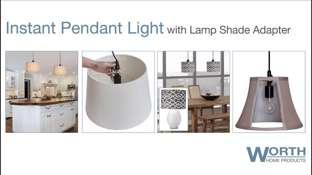 Best ideas about DIY Lamp Shade Kit . Save or Pin Worth Home Products Lamp Shade Pendant Conversion Kit Now.