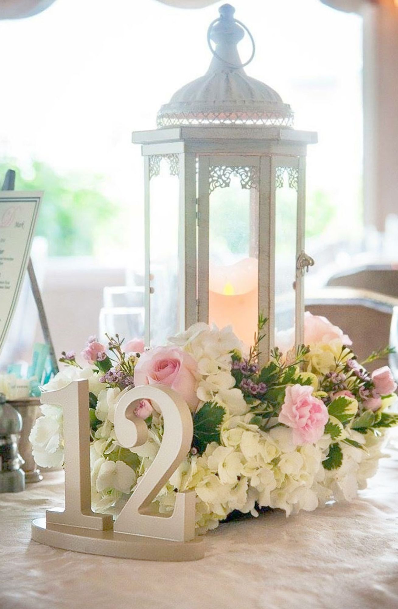 Best ideas about DIY Lantern Wedding Centerpieces . Save or Pin Painted Wedding Table Numbers Now.