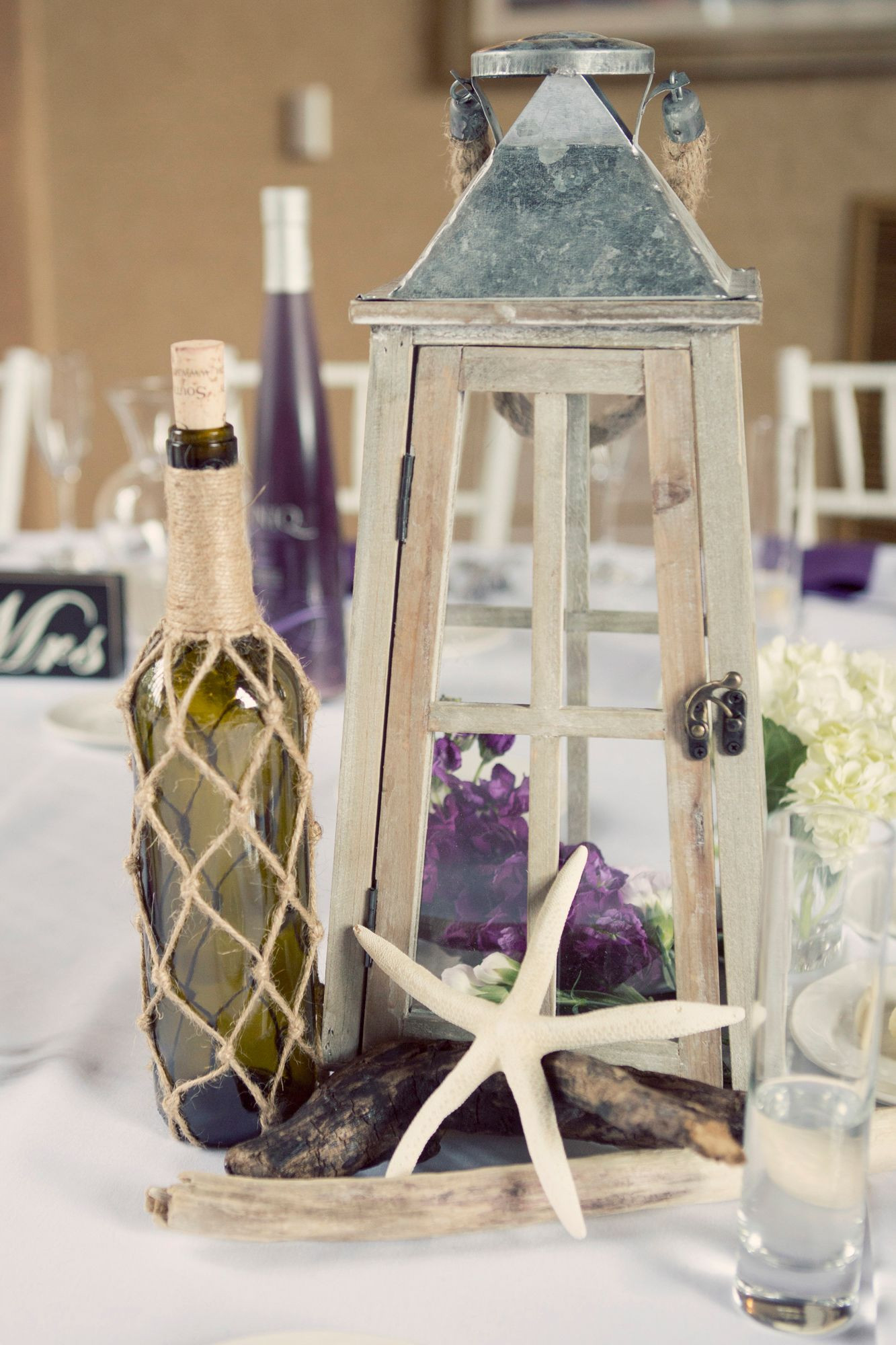 Best ideas about DIY Lantern Wedding Centerpieces . Save or Pin DIY Nautical Lantern and Bottle Centerpiece Now.
