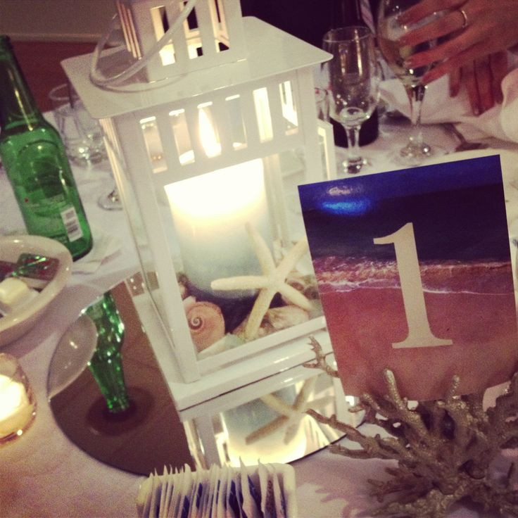 Best ideas about DIY Lantern Wedding Centerpieces . Save or Pin DIY beach lantern centerpiece Now.
