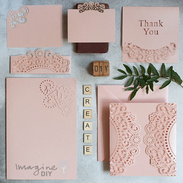 Best ideas about DIY Laser Cut Wedding Invitations . Save or Pin Doily Pink Wrap Imagine DIY Now.