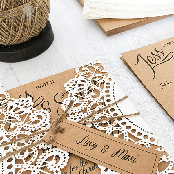 Best ideas about DIY Laser Cut Wedding Invitations . Save or Pin Doily Wedding Invitation f White Imagine diy Now.