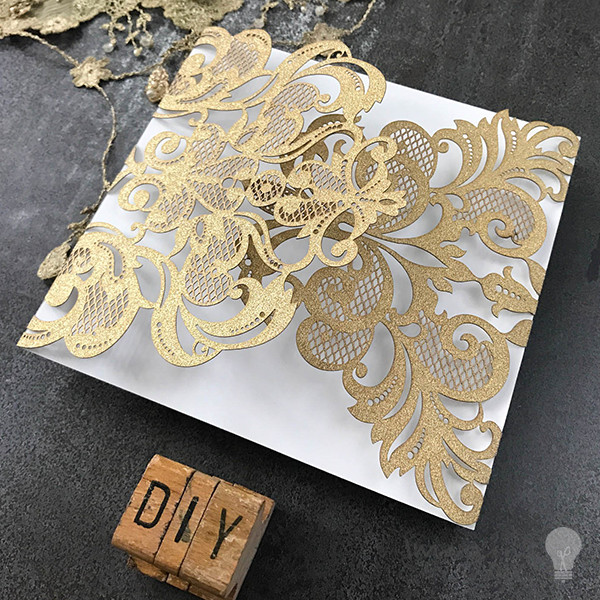 Best ideas about DIY Laser Cut Wedding Invitations . Save or Pin Rococo Laser Cut Range Gold Glitter Imagine DIY Now.