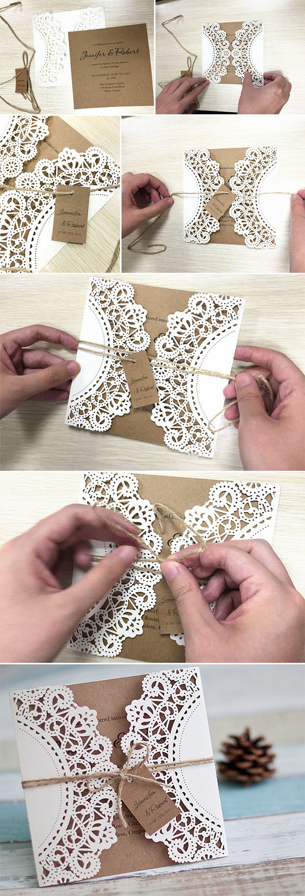 Best ideas about DIY Laser Cut Wedding Invitations . Save or Pin DIY Wedding Ideas 10 Perfect Ways To Use Paper For Weddings Now.