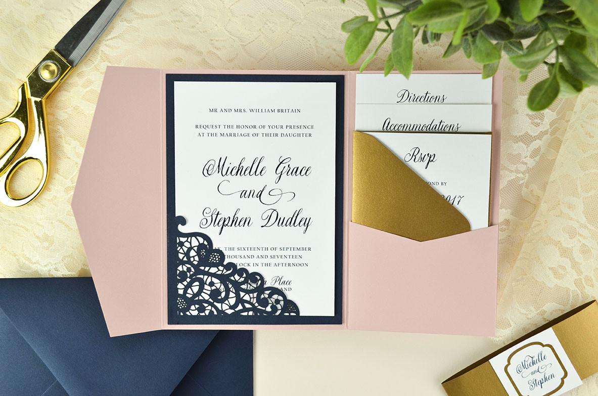 Best ideas about DIY Laser Cut Wedding Invitations . Save or Pin Lace Laser Cut Wedding Invitation Cards & Pockets Design Now.