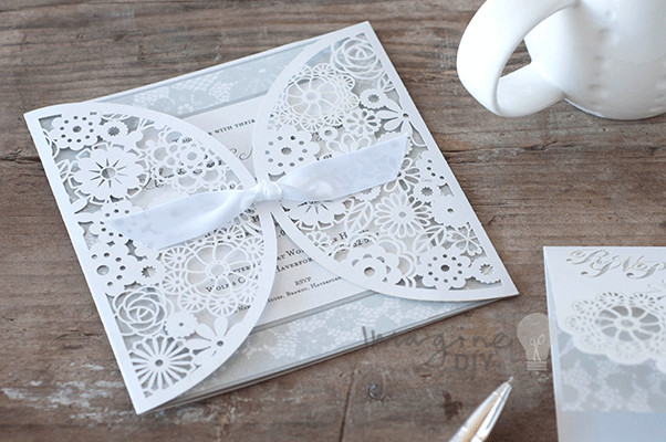 Best ideas about DIY Laser Cut Wedding Invitations . Save or Pin How to Make… Beautiful DIY Rita Laser Cut Wedding Now.