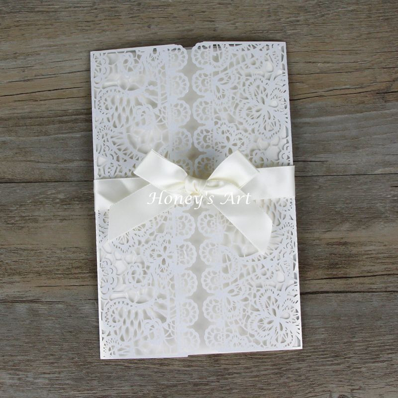 Best ideas about DIY Laser Cut Wedding Invitations . Save or Pin 50pcs lot Laser Cut Wedding Invitations With Envelope Now.