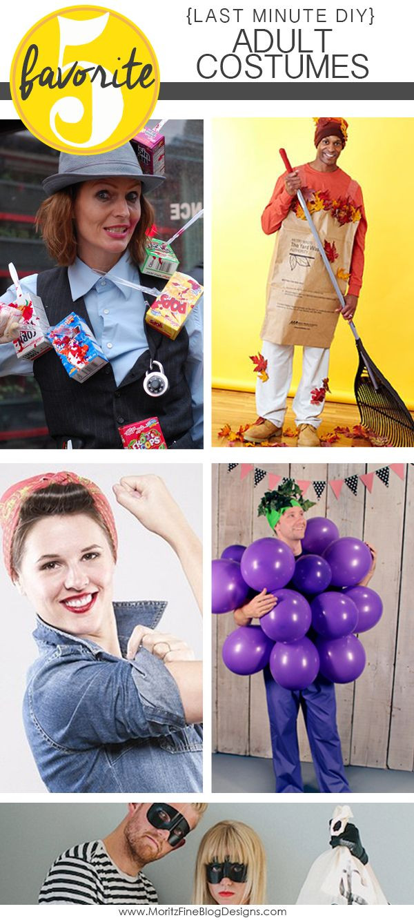 Best ideas about DIY Last Minute Costumes . Save or Pin Are you in need of Last Minute DIY Adult Halloween Now.