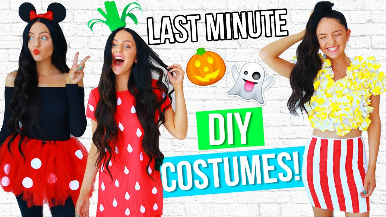 Best ideas about DIY Last Minute Costumes . Save or Pin DIY LAST MINUTE Costume Ideas For Halloween 2016 EASY Now.