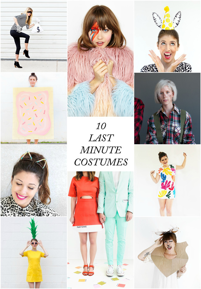 Best ideas about DIY Last Minute Costumes . Save or Pin 10 Last Minute DIY Halloween Costume Ideas The Crafted Life Now.
