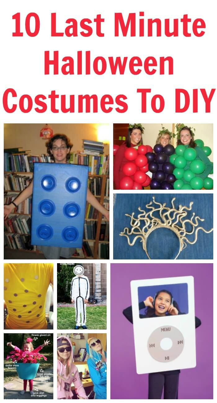 Best ideas about DIY Last Minute Costumes . Save or Pin 10 Last Minute Halloween Costumes To DIY at the last minute Now.