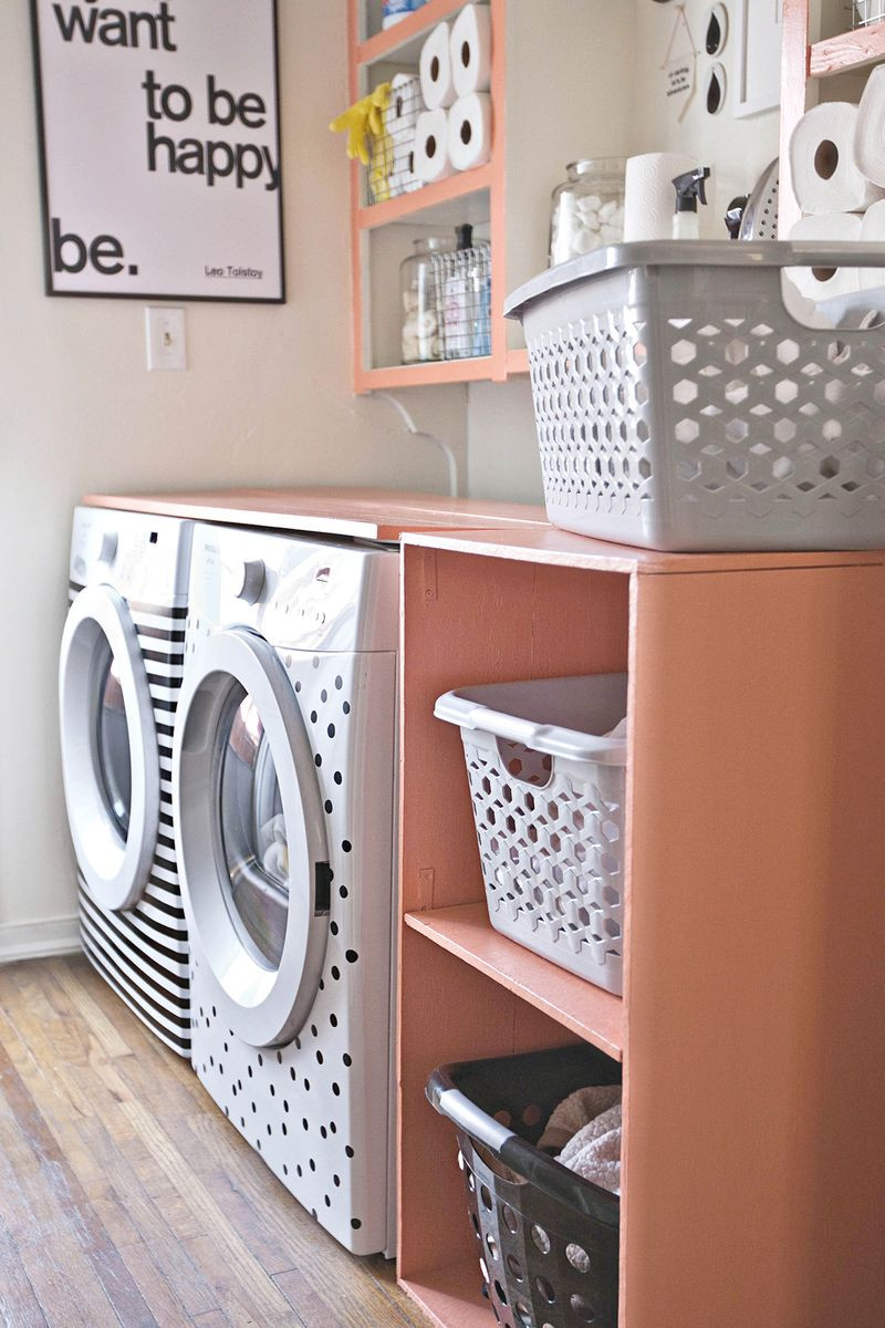 Best ideas about Diy Laundry Room . Save or Pin DIY Laundry Room Shelf A Beautiful Mess Now.