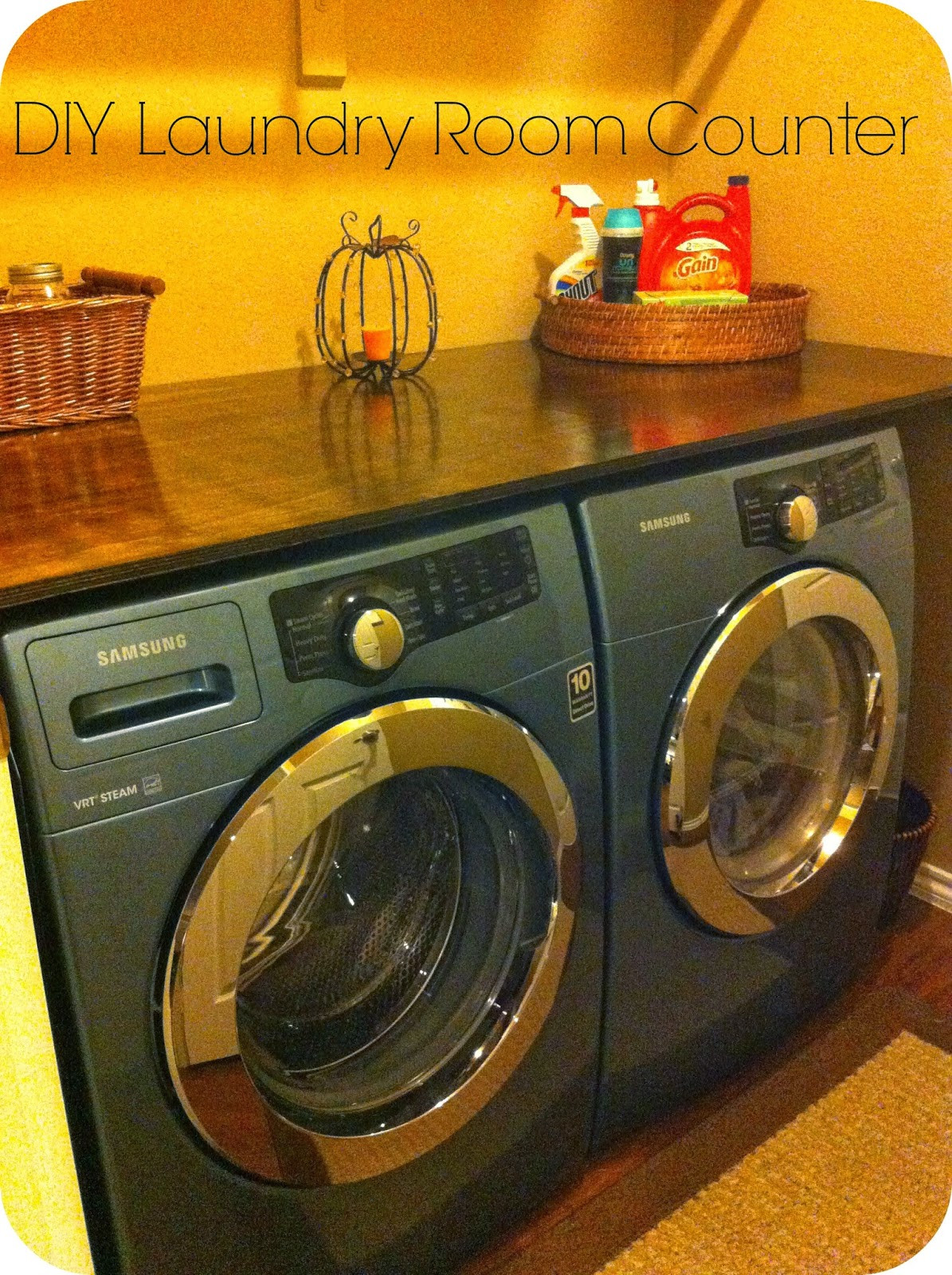 Best ideas about Diy Laundry Room . Save or Pin Barksdale Blessings DIY Laundry Room Counter Now.
