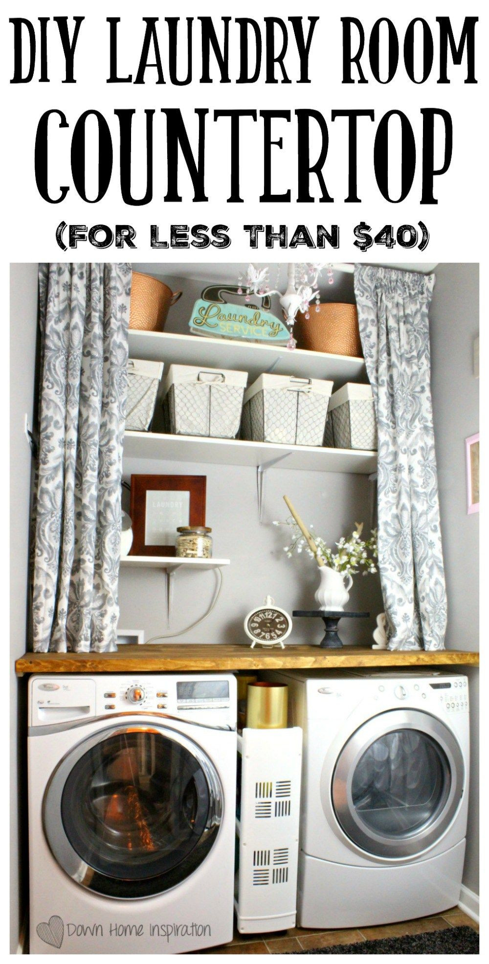 Best ideas about DIY Laundry Room Countertop . Save or Pin DIY Laundry Room Countertop for Under $40 Now.
